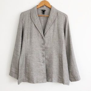 Eileen Fisher Silver Metallic Blazer